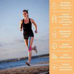 YukiKnows® Bande de kinésiologie SPORT Imperméable Tape - BEST Maintien Physio pour les genoux, les chevilles, les épaules et les muscles | Hypoallergénique pour la peau avec médical adhésif | Rouleau de la marque YukiKnows image 3 produit