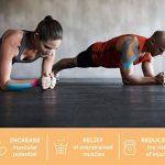 YukiKnows® Bande de kinésiologie SPORT Imperméable Tape - BEST Maintien Physio pour les genoux, les chevilles, les épaules et les muscles | Hypoallergénique pour la peau avec médical adhésif | Rouleau de la marque YukiKnows image 4 produit